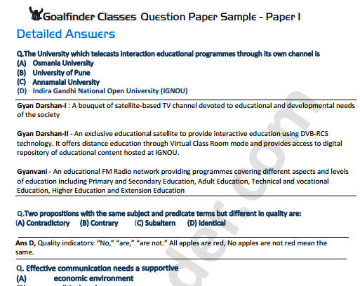 ugc net SET Papers solved