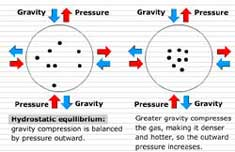 Hydrostatic equilibrium balances outward thermal pressure and gravity trying to collapse the Sun to the center