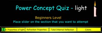 The power concept quiz on light has been created for your learning and establishing concepts through quiz