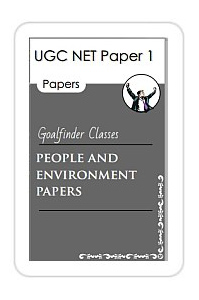 UGC NET SET People and environment papers