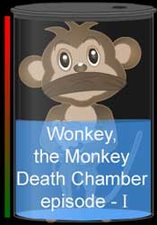 Wonkey the monkey in the quantum jump physics educational game episode one